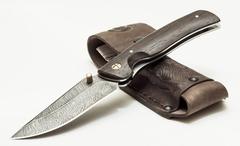 Складной нож из дамаска Аляска