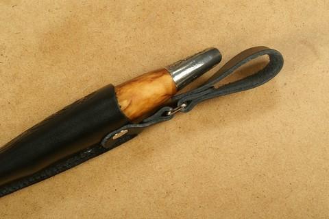 Нож с фиксированным клинком Brusletto Renessanse, сталь Sandvik 12C27, рукоять карельская береза. Вид 11