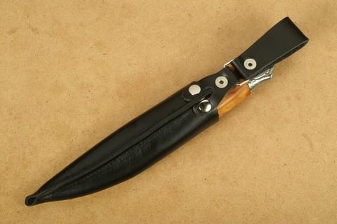 Нож с фиксированным клинком Brusletto Renessanse, сталь Sandvik 12C27, рукоять карельская береза. Вид 13