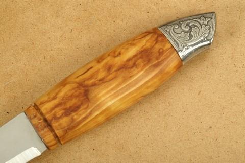 Нож с фиксированным клинком Brusletto Renessanse, сталь Sandvik 12C27, рукоять карельская береза. Вид 5