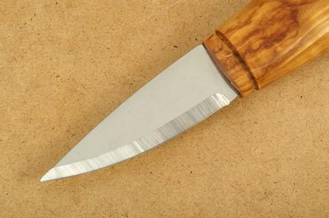 Нож с фиксированным клинком Brusletto Renessanse, сталь Sandvik 12C27, рукоять карельская береза. Вид 4