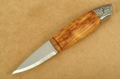 Нож с фиксированным клинком Brusletto Renessanse, сталь Sandvik 12C27, рукоять карельская береза, фото 3