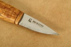 Нож с фиксированным клинком Brusletto Renessanse, сталь Sandvik 12C27, рукоять карельская береза, фото 6