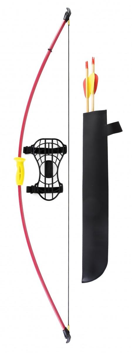 Лук детский классический красный 7кг, 112см (колчан, 2 стрелы, крага, мишень) мишень olimpciti мк 0255 h 125см