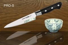 Нож кухонный Samura PRO-S универсальный - SP-0021, сталь AUS-8, рукоять G10, 115 мм, фото 2