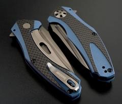 Складной нож Kershaw Natrix Blue/Gray K7007CF, сталь 8Cr13MoV, рукоять G10/карбон, фото 3