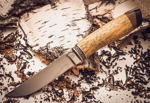 Нож Ладья-3, Х12МФ, рукоять абрикос - Nozhikov.ru