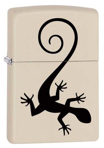 Зажигалка ZIPPO 216 Lizard с покрытием Cream Matte, латунь/сталь, кремовая, матовая, 36x12x56 мм lizard