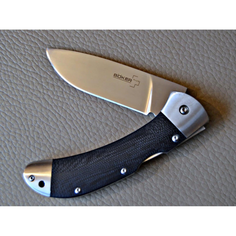 Фото 7 - Нож складной 3000 Lightweight Boker Plus 01BO187, сталь 440С Satin Plain, рукоять титан/стеклотекстолит G10, чёрный