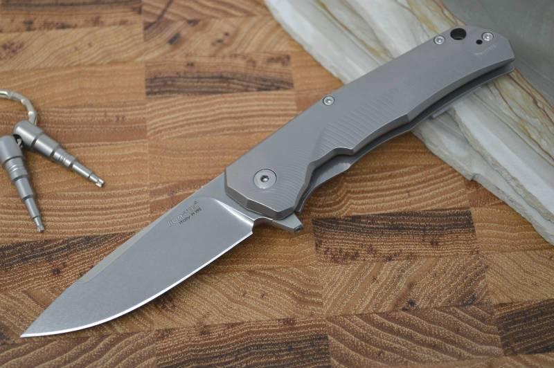 Фото 6 - Нож складной LionSteel TRE BR BR, сталь M390, рукоять титан от Lion Steel