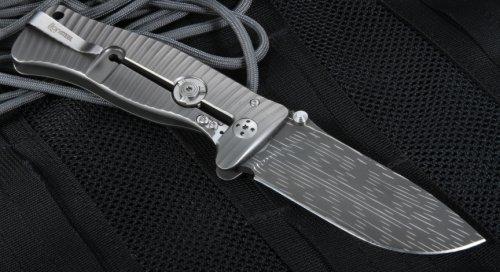 Фото 5 - Нож складной LionSteel SR1DS G, сталь дамаск с рисунком