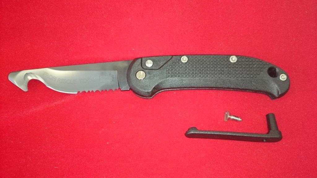 Купить Выкидной нож - стропорез Rescue Tool Black, PVD-Coated Blade 9.0 см. от Fantoni в России
