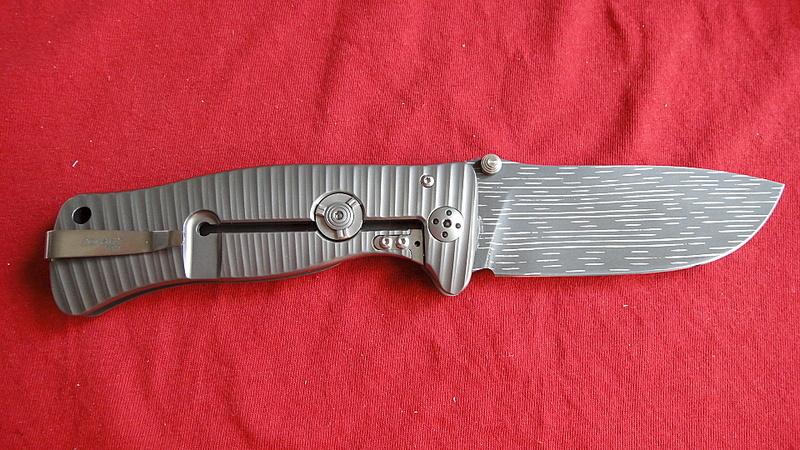 Фото 3 - Нож складной LionSteel SR1DS G, сталь дамаск с рисунком