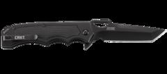 Складной нож CRKT 7050 Septimo, сталь 8Cr13MoV Black Oxide Finish Combo Edge, рукоять алюминий/резиновые вставки, фото 2