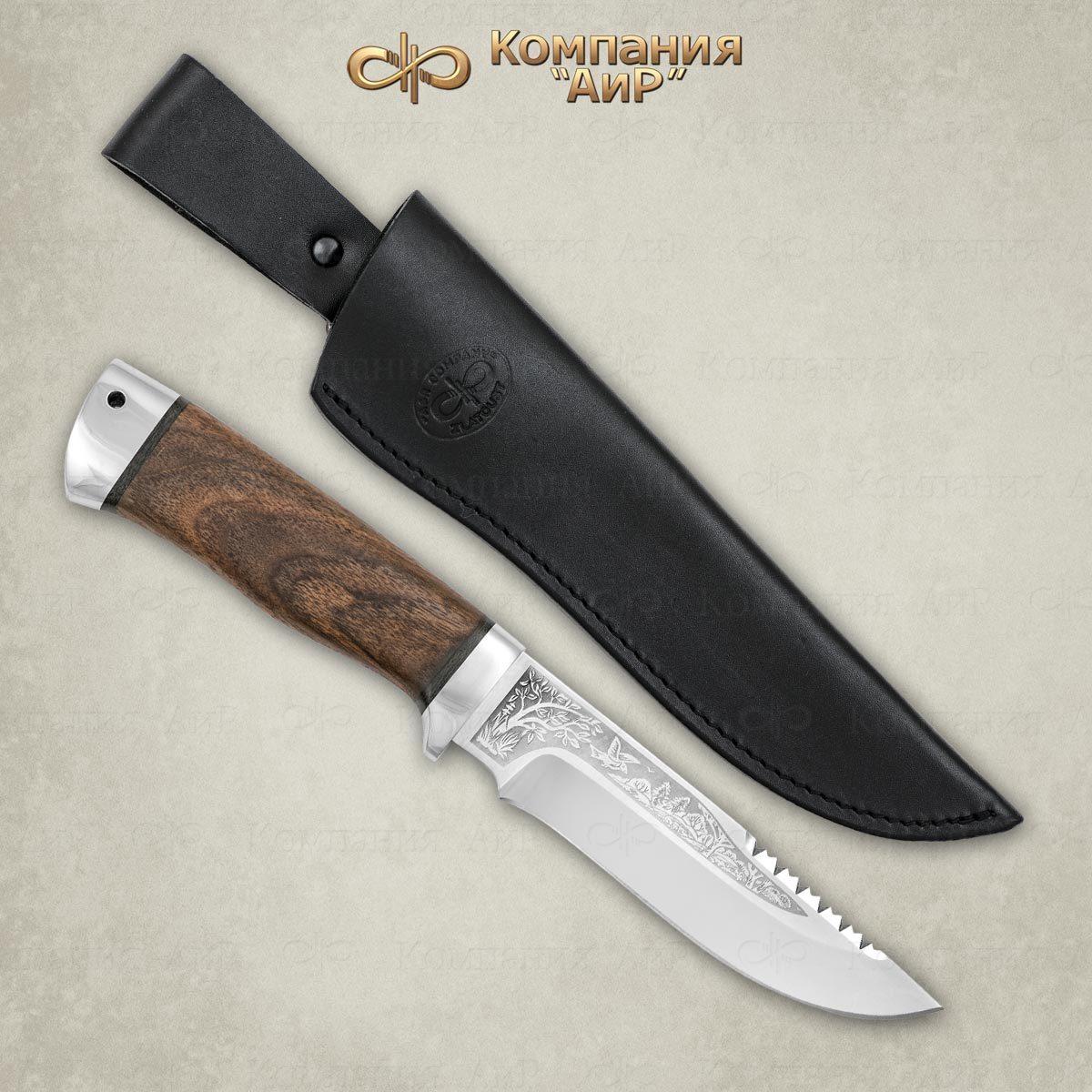 Нож АиР Стрелец, сталь ЭП-766, рукоять дерево нож аир хазар сталь эп 766 рукоять дерево