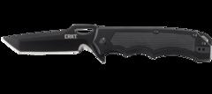 Складной нож CRKT 7050 Septimo, сталь 8Cr13MoV Black Oxide Finish Combo Edge, рукоять алюминий/резиновые вставки, фото 6
