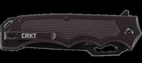 Складной нож CRKT 7050 Septimo, сталь 8Cr13MoV Black Oxide Finish Combo Edge, рукоять алюминий/резиновые вставки