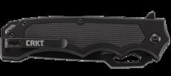 Складной нож CRKT 7050 Septimo, сталь 8Cr13MoV Black Oxide Finish Combo Edge, рукоять алюминий/резиновые вставки, фото 7