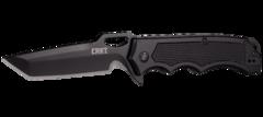 Складной нож CRKT 7050 Septimo, сталь 8Cr13MoV Black Oxide Finish Combo Edge, рукоять алюминий/резиновые вставки, фото 8