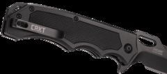 Складной нож CRKT 7050 Septimo, сталь 8Cr13MoV Black Oxide Finish Combo Edge, рукоять алюминий/резиновые вставки, фото 9