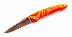 Складной нож Kizer Sliver, порошковая сталь CPM-S35VN, рукоять алюминий, оранжевый, фото 1