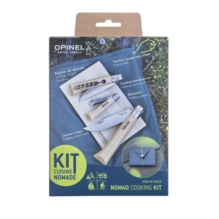 Фото 5 - Набор 3-x складных ножей Opinel Nomad Cooking Kit, сталь Sandvik 12C27, рукоять бук, 002177