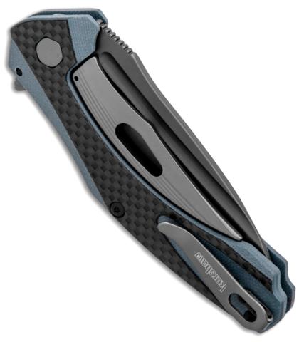 Складной нож Kershaw Natrix Blue/Gray K7007CF, сталь 8Cr13MoV, рукоять G10/карбон. Вид 7