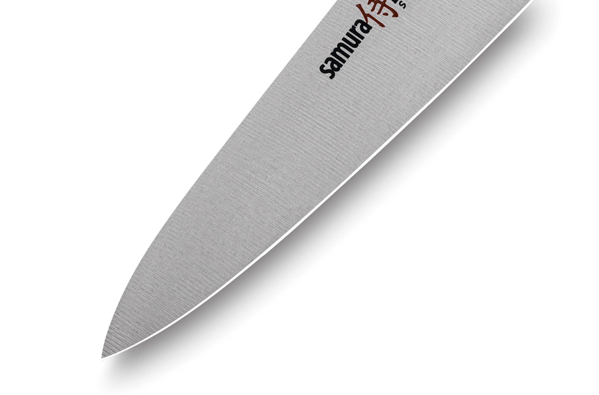 Фото 7 - Нож кухонный Samura PRO-S универсальный - SP-0021, сталь AUS-8, рукоять G10, 115 мм