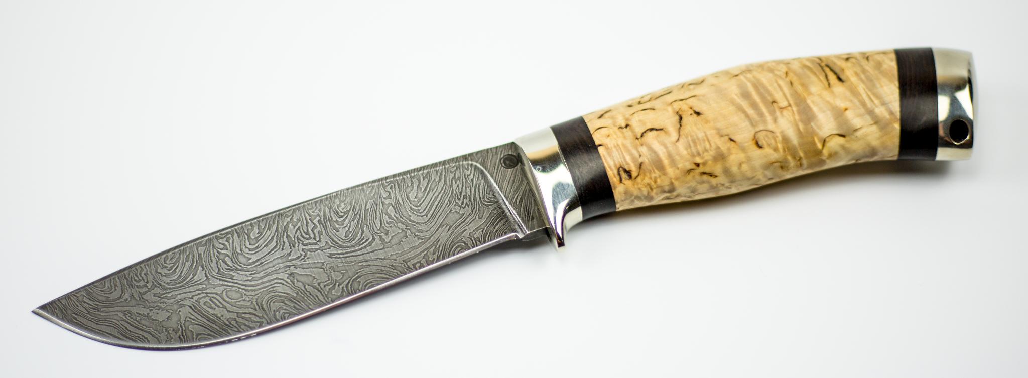 Фото 12 - Нож Лесник дамаск от Ножи Крутова