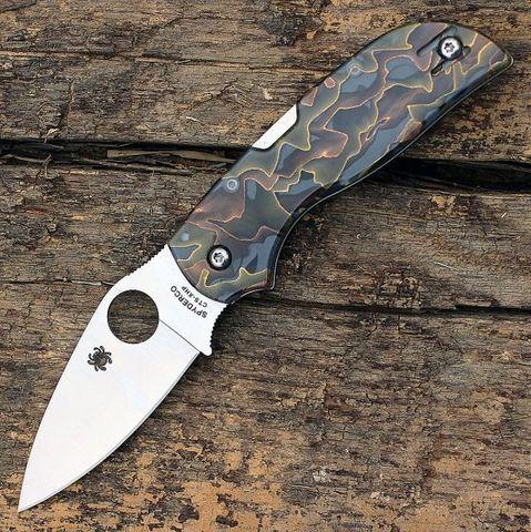 Складной нож CHAPARRAL RAFFIR NOBLE - Spyderco C152RNP, сталь CTS-XHP Satin Plain, рукоять Raffir™ NOBLE. Вид 3
