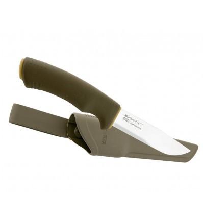 Фото 6 - Нож с фиксированным лезвием Morakniv Bushcraft Forest, сталь Sandvik 12C27, ручка резина/пластик