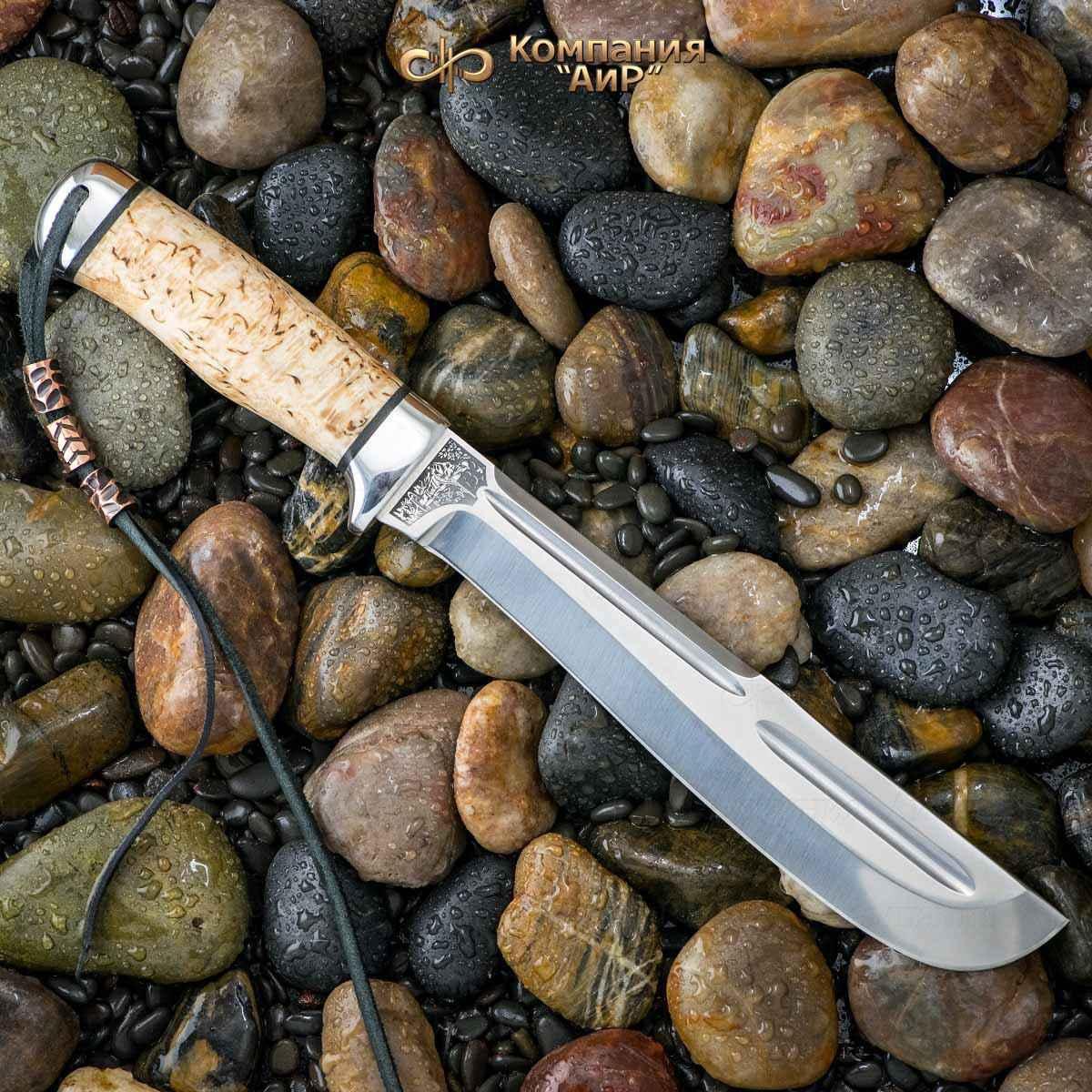 Мачете разделочный АиР Ицыл мачете, сталь 100х13м, рукоять карельская береза нож разделочный скинер карельская береза 100х13м аир