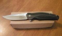 Складной нож Ripple Charcoal Sainless Stell Handle (IKBS® Flipper)
