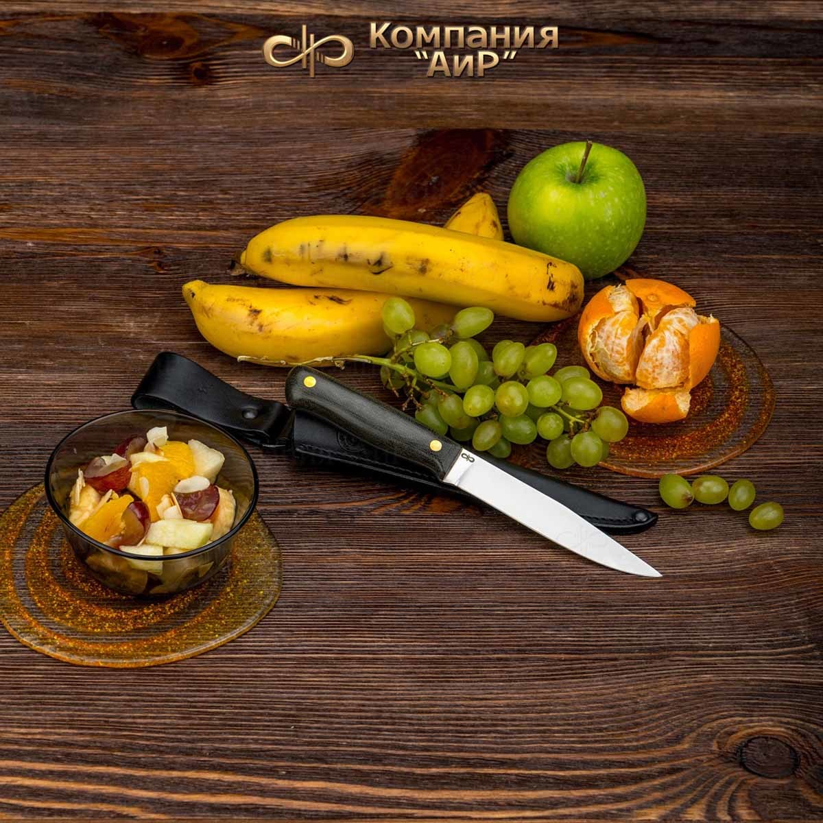 Нож разделочный АиР Заноза ЦМ, сталь 100х13м, рукоять текстолит