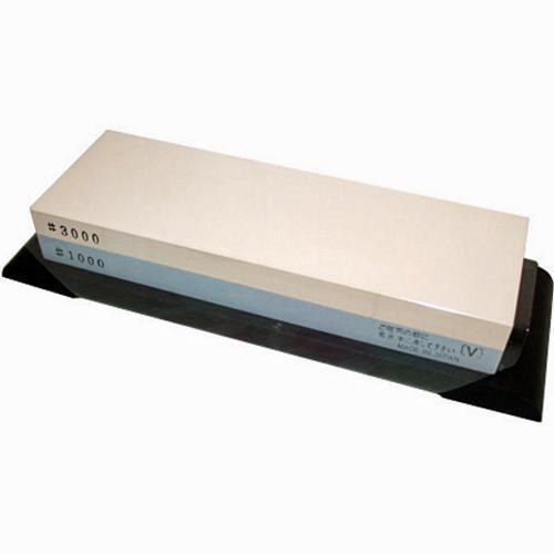 Камень комбинированный водный #3000/1000 180х50х28 мм на резиновой подставке