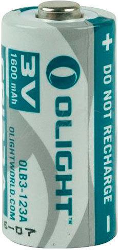 Литиевая батарея Olight CR123А 3.0V. 1600 mAh