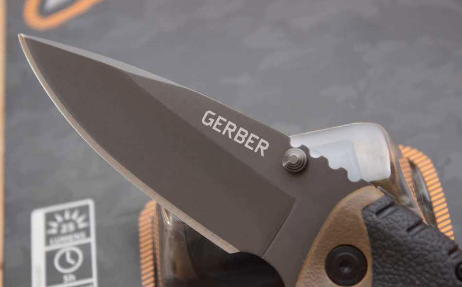 Фото 10 - Складной нож с фонариком Gerber Myth Folder, сталь 7Cr17MoV, рукоять стеклонейлон