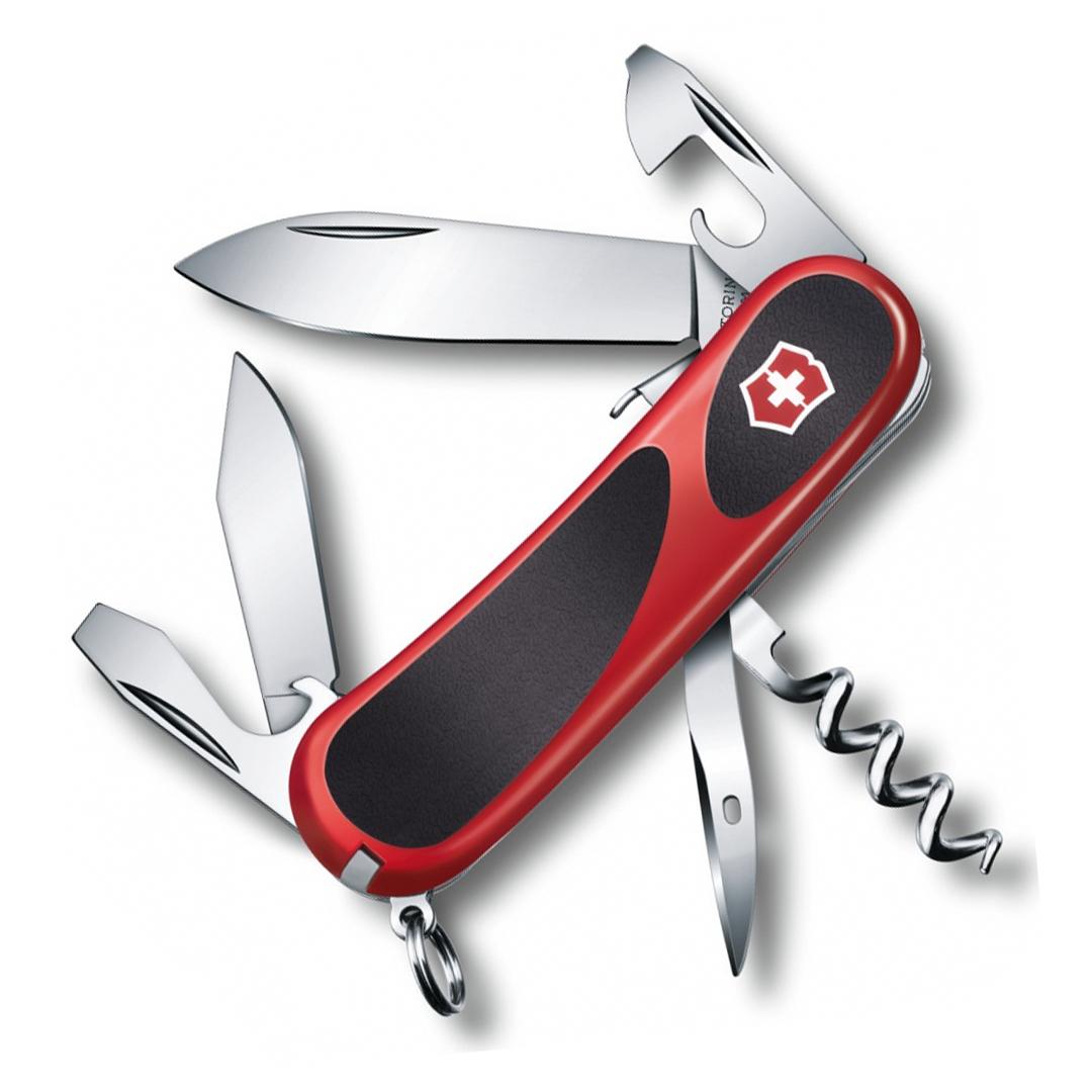Нож перочинный Victorinox EvoGrip S101, сталь X50CrMoV15, рукоять термопластик GRN, красно-чёрный