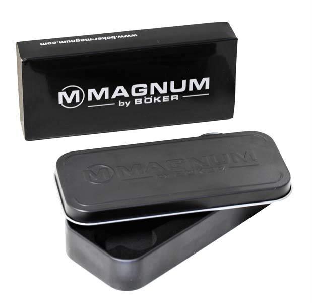 Фото 10 - Нож складной Magnum Metal - Boker 01MB704, сталь 440B Satin Plain, рукоять стеклотекстолит G10/нержавеющая сталь