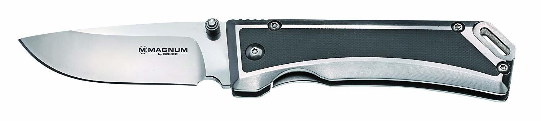 Фото 7 - Нож складной Magnum Metal - Boker 01MB704, сталь 440B Satin Plain, рукоять стеклотекстолит G10/нержавеющая сталь