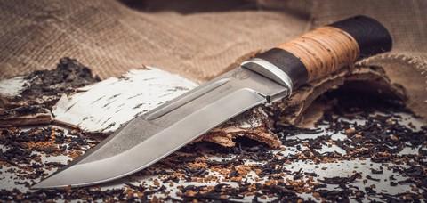Нож Пустынный орел кованый Х12МФ, береста