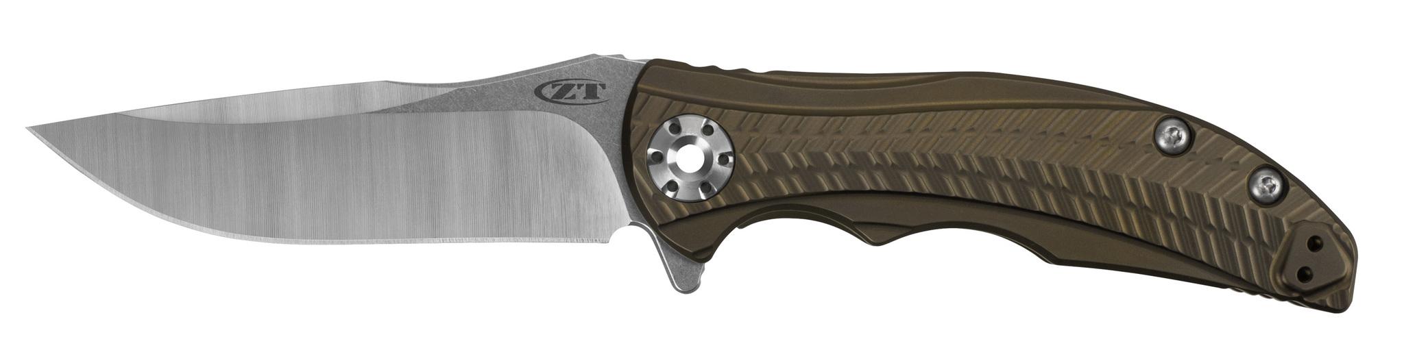 Складной нож Zero Tolerance 0609, сталь CPM 20CV, рукоять титан/бронза