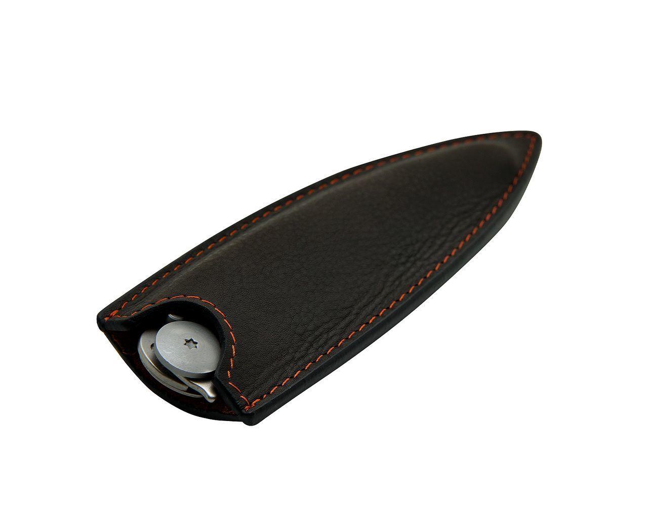 Кожаный чехол для складных ножей Deejo 37g, Mocca