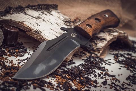 Нож Армейский, сталь У8 с антибликовым покрытием. Вид 2