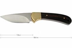 Нож с фиксированным клинком 113 Ranger Skinner - BUCK 0113BRS, сталь 420HC, рукоять орех, фото 3