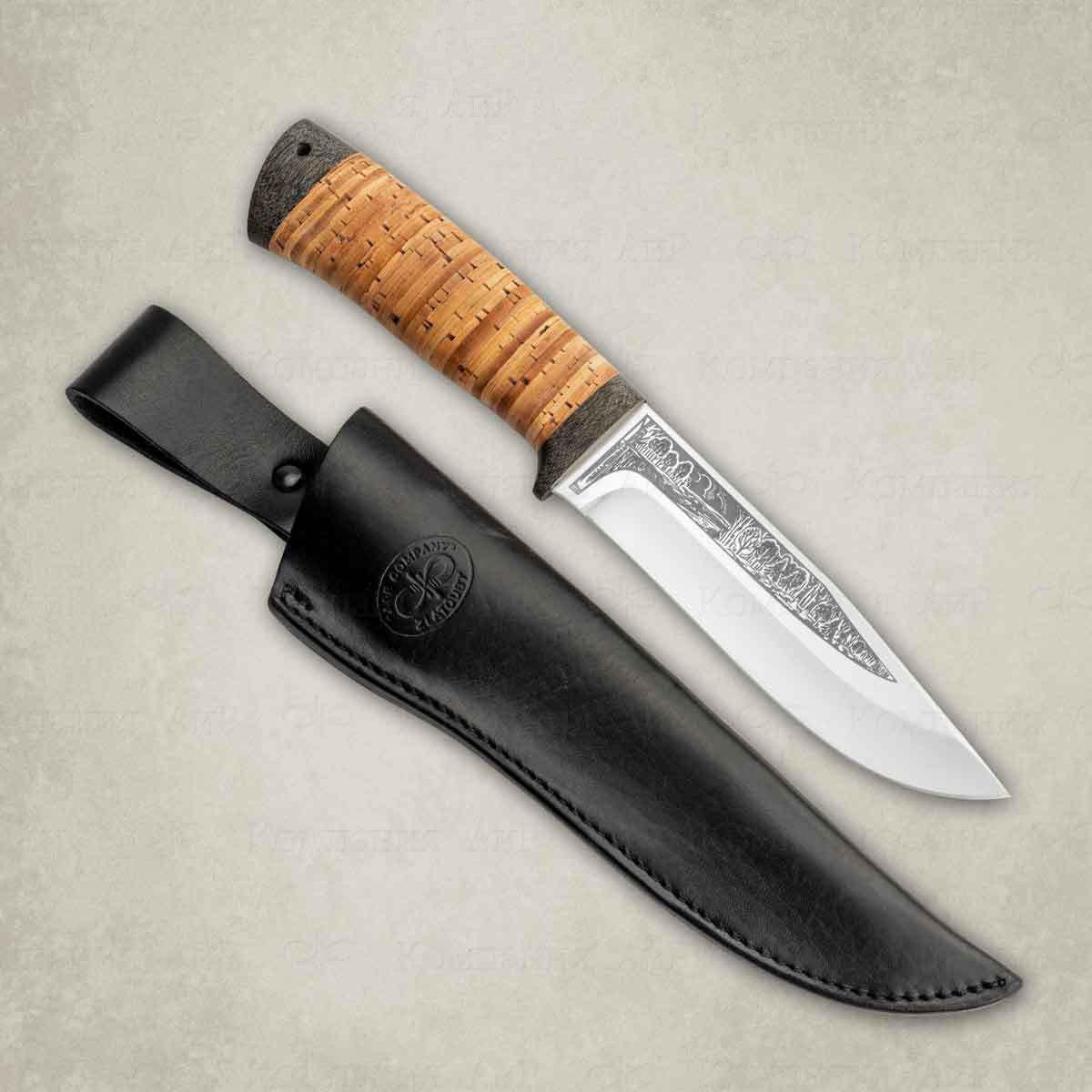 Нож АиР Турист, сталь ЭП-766, рукоять береста недорого