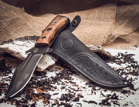 Нож Армейский, сталь У8 с антибликовым покрытием. Вид 3