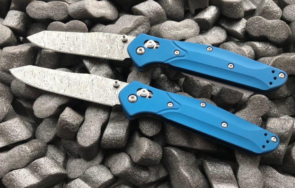 Складной нож Osborne, дамаск, алюминий benchmade bm940 osborne