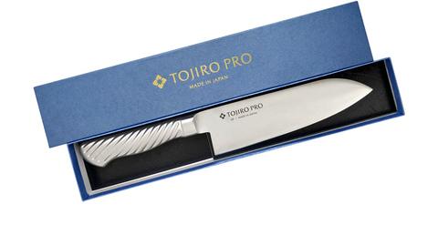 Кухонный нож Сантоку, Tojiro PRO, F-895, сталь VG-10. Вид 4
