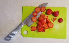 Кухонный нож Сантоку, Tojiro PRO, F-895, сталь VG-10, фото 5